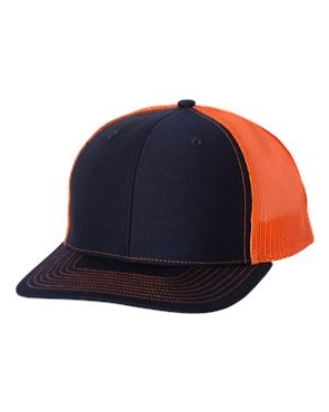 Orange/Navy Color, Embroidery will in Orange